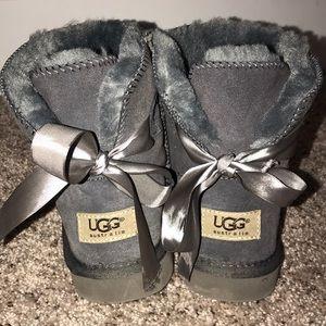 Gray, short UGG boots